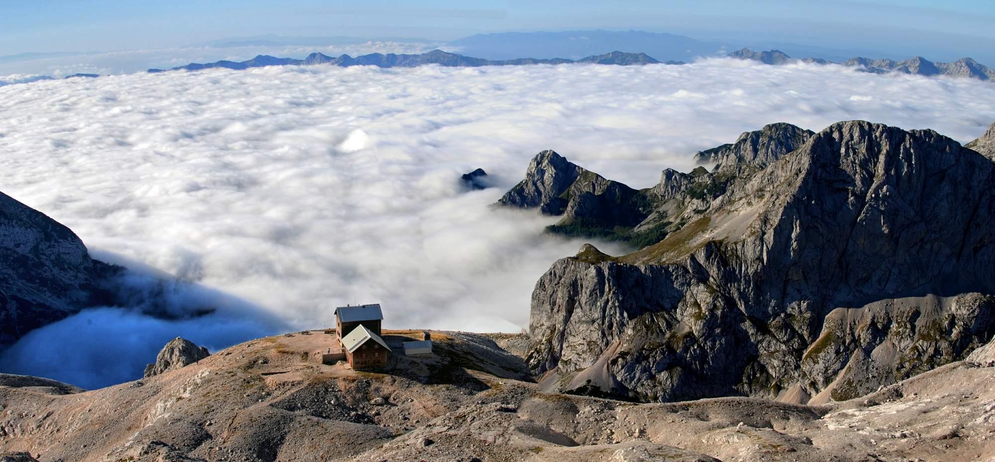 Horská chata pod vrcholem Triglav, Slovinsko