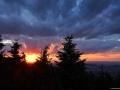 Západ slunce, Pustevny, Beskydy.
