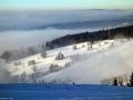 Pohled z Bukové hory 958 m n.m. směrem na Čenkovice, Orlické hory.