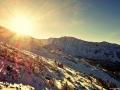 Sluncem zalitá krajina, Nízké Tatry, Slovensko.