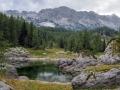 Slovinsko, jedno ze sedmi triglavskych jezer