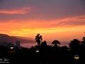 Po západu slunce nad městem Puerto de la Cruz na ostrově Tenerife, Kanárské ostrovy, Španělsko.