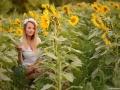 Kristýna a slunečnice